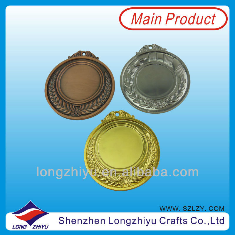 Blank metal medal blanks 2014 fashion cheap Custom medals/ sports medal