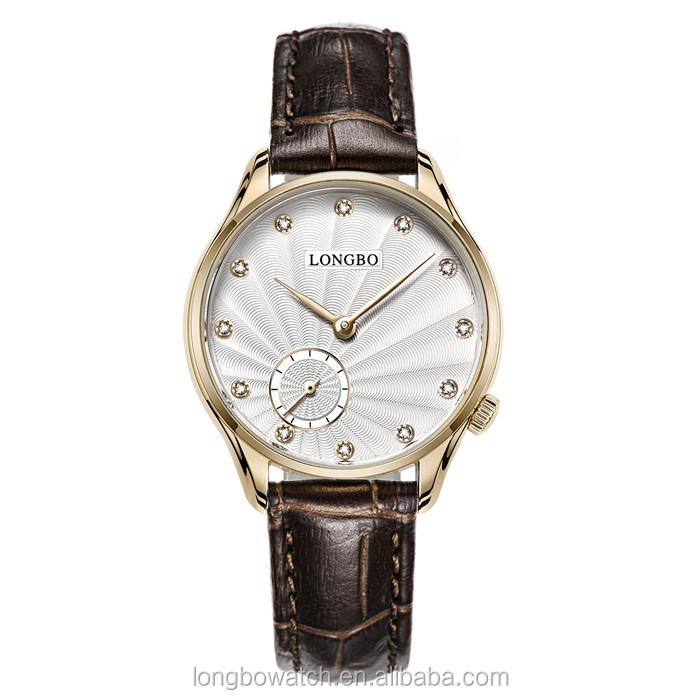longbo brand slim italian leather strap style watch high quality watches for elegant lady
