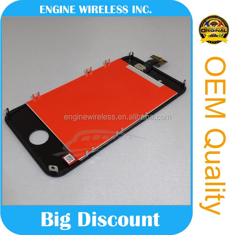 mobile phone lcd for iphone 4/4s touch screen factory directly