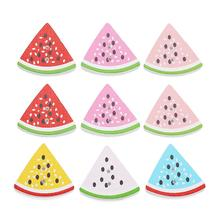 Fashion watermelon slice wood button size 30x27mm <strong>hole</strong> 2mm