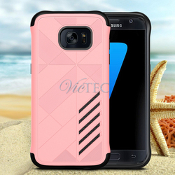 Shockproof Silicone PC Hybrid Dual Layer Phone Case For Samsung Galaxy S7 S7 edge S7 plus
