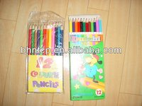 Dollar Store Stationary China Product Cheap Colored pencil 12colors