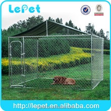 wholesale with solid roof 10x10x6 foot galvanized large outdoor dog kennel