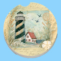 Custom Lighthouse Single Ceramic Car Coaster