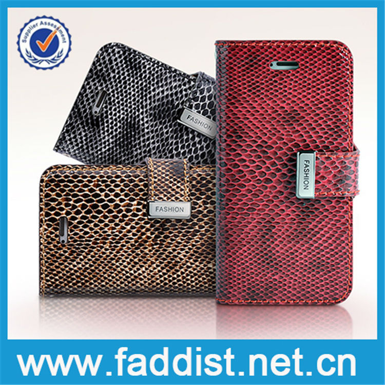 Hight quality products phone leather case for apple iphone 5