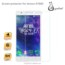 Factory price cell phone accessories tempered glass screen protector for Lenovo A7600 protective film
