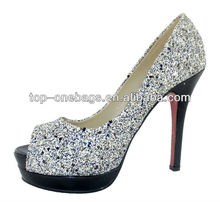 2013 high heel shoes sandal with speical material made in china wholesale