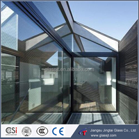 Morden house design tempered laminated skylight glass for building with international standard