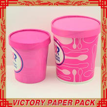 high quality 500ml ice cream paper cup and lid with printing