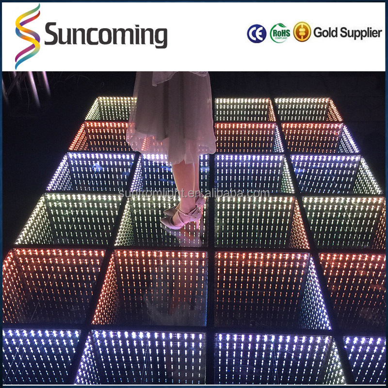 2016 New Arrivals Wedding Stage RGB Lighted Mirror Dmx Led Dance Floor