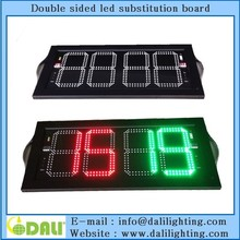 Latest design football substitution board app/electrical substiution board/BASKETBALL SUBSTITUTION SIGN