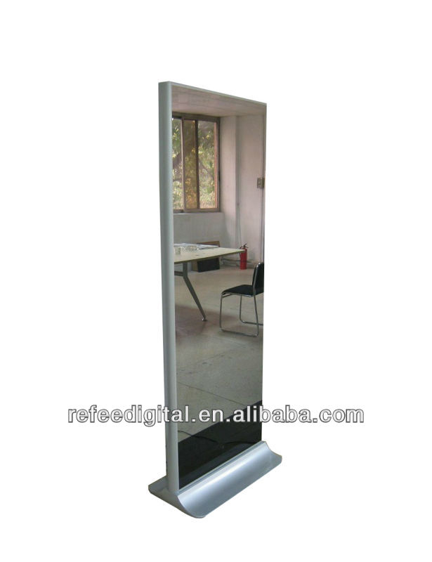 "42"" floor standing magic mirror media player,LCD digital signage with LG/Samsung screen panel"