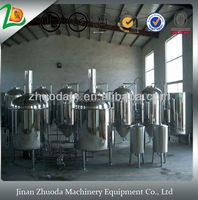 Nice Price 800l used nano brewery, beer production line barley malting machine
