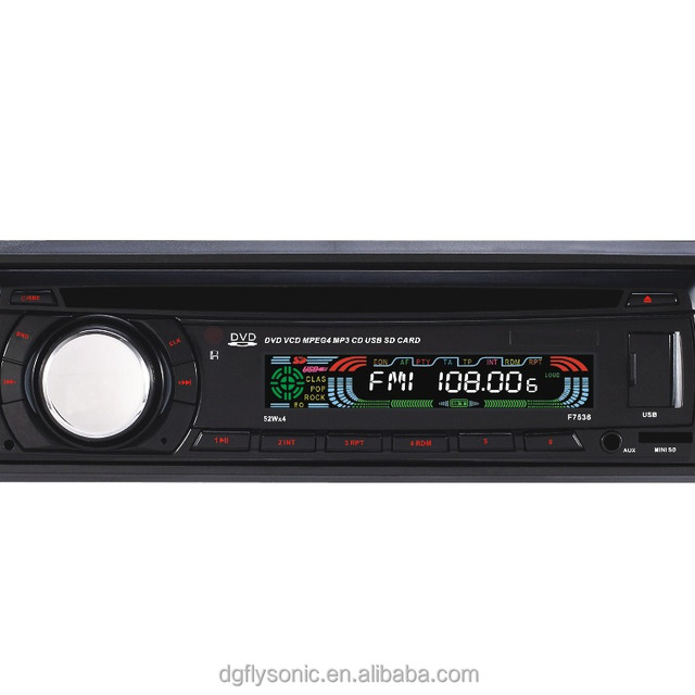 (FY7536) 1 din Fixed panel multi-media car DVD player audio stereos with BLUETOOTH/DVD/VCD/CD/MP4/MP3/AM/FM