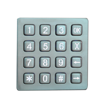 Metal Self-service Usb Numeric rugged 4x4 metal numeric function keys keypad