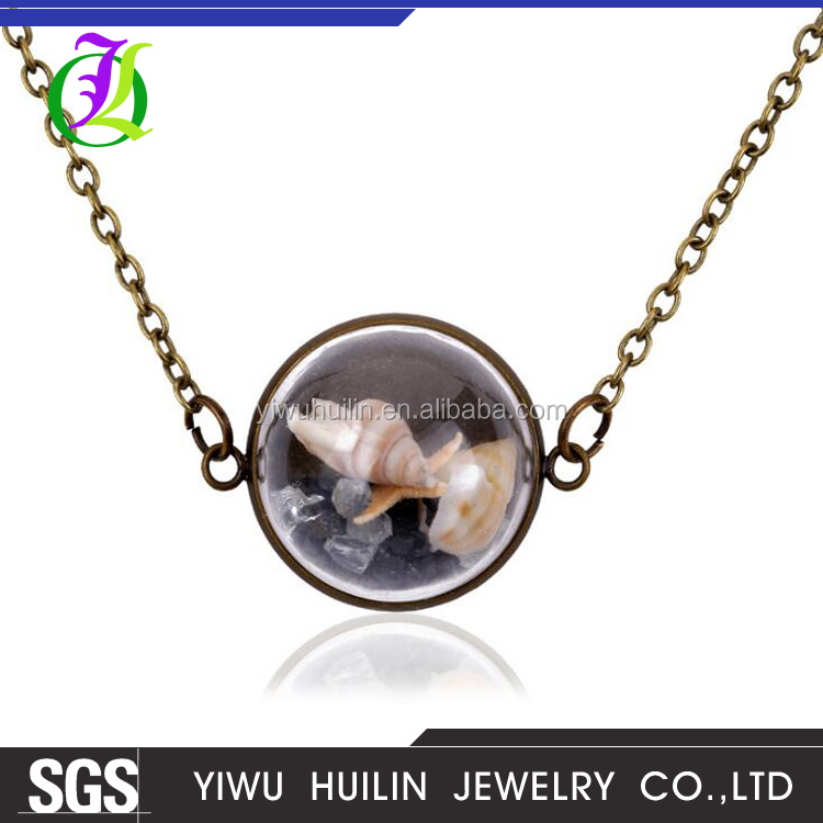 JTN 038 Yiwu Huilin Jewelry New items decorated creative sea series DIY Conch necklace new sale