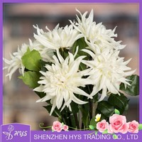 handmade flowers ,artificial pu white dahlia flower from China