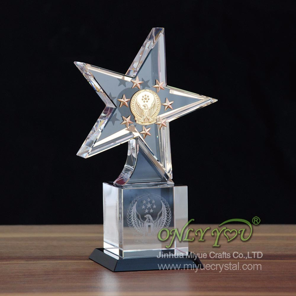 Design Crystal Awards Free,Trade Assurance Custom Star Crystal Awards (MYCT-079)