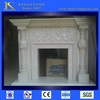 Hot sale simple design wooden electric fireplace with own quarry & CE certificate