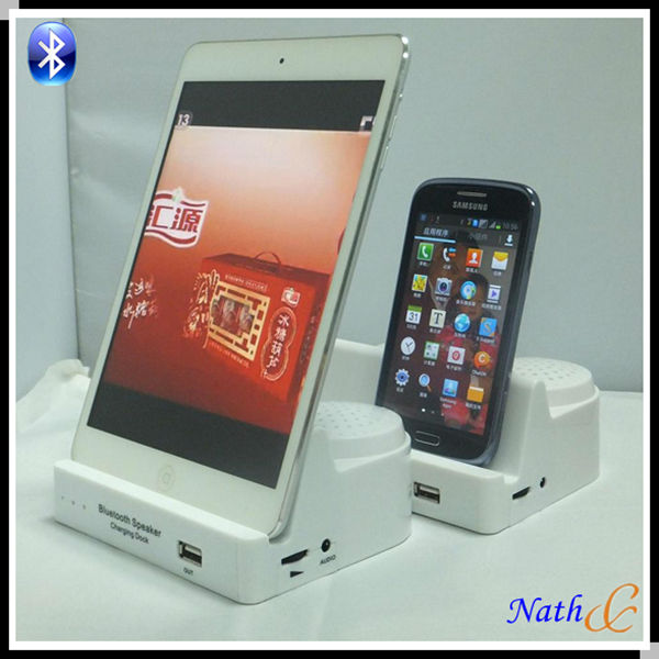 2013 new Charging dock bluetooth speaker for ipad iphone(nbts14)