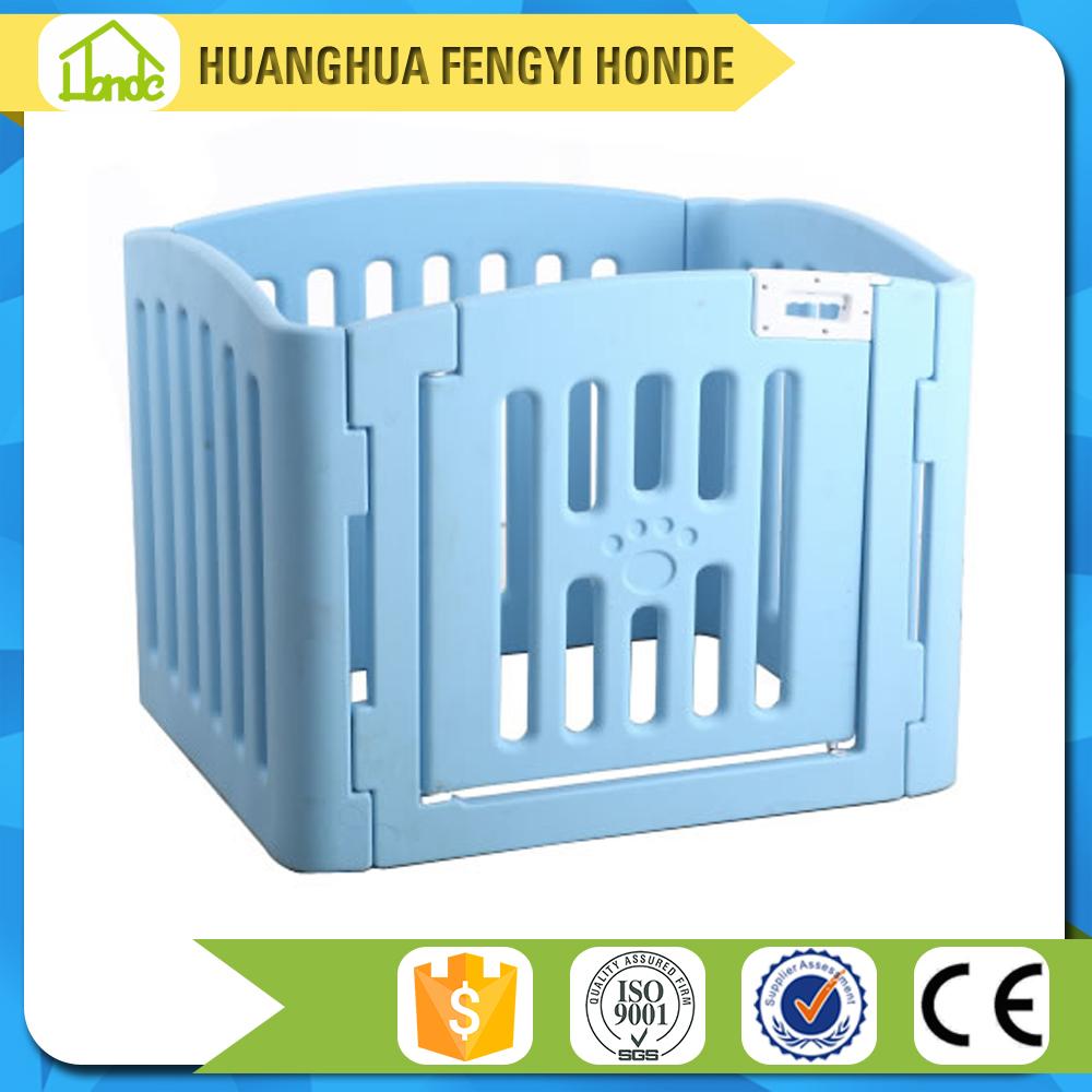 quality solid space round design blow molding plastic pet fence