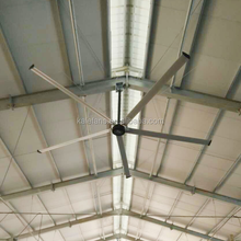 Big air ventilation hvls industrial ceiling fan with light