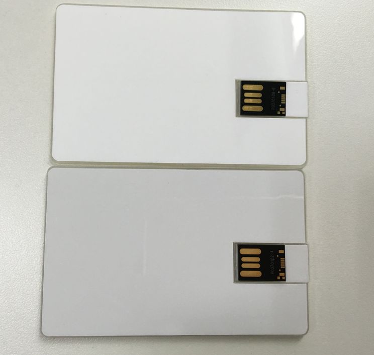 Factory price transparent Blank Credit card USB 2.0 flash Memory card 1GB Promotion card usb