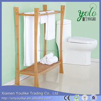 natural bamboo bathroom accessories bath sets towel shelf holder rack