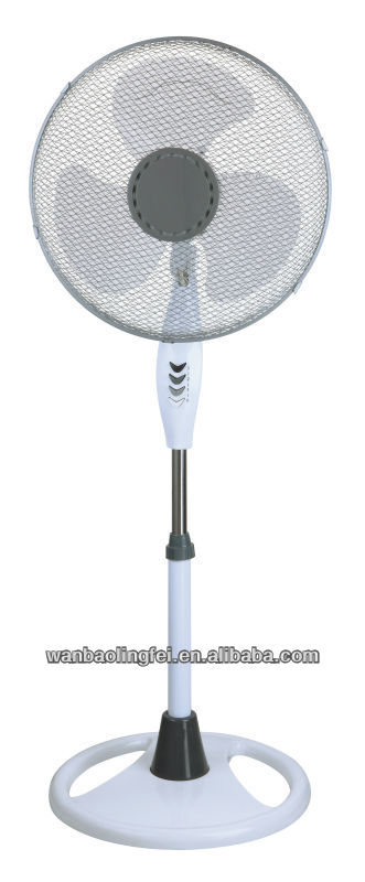 Plastic material and metal 16'' electric stand fan