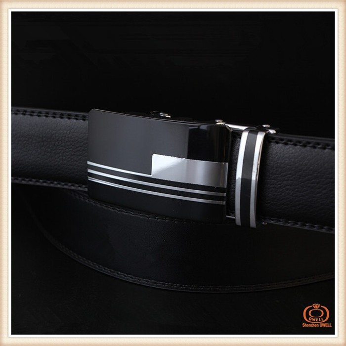 Famous Brand Name High Quality Real Genuine Leather Belt for Men with Slide Metal Buckle Belts for Mens