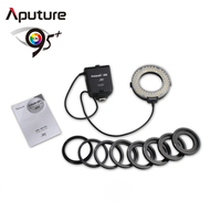 Aputure macro ring flash for Canon macro shooting with 8 lens adapter 49-77mm