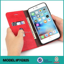 Wallet leather cover case for iPhone 7 7 plus ,mobile phone accessories