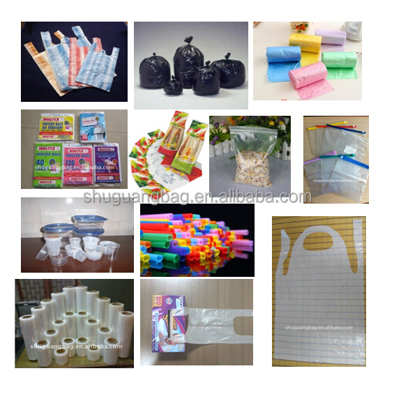 Factory wholesale high quality disposable custom printed colored plastic garbage bag