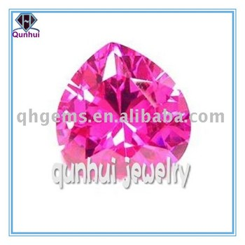 Heart shaped Pink Cubic zirconia