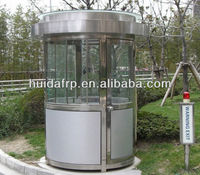 customise style top quality stainless steel prefabricated house/guard house/kiosk/toll booth low price