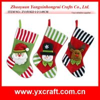 Christmas decoration (ZY15Y022-1-2-3 49CM) christmas sweet color gift stocking, christmas eve gift preparation