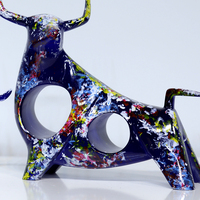 Resin Painted Cattle Handicraft Polyresin Cow Item Resin Cow Collection