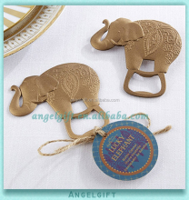 Wholesale Yiwu Angel Gifts <strong>Wedding</strong> Favors Blessed Golden Elephant Bottle Opener