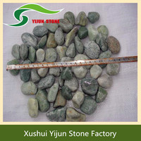 High Quality Mixed Color Polished Garden Decor Landscaping Ballast Stone