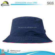 Fashion Foldable Blank Navy Blue Nylon Bucket Hat