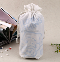 Hdpe Clear Plastic Small Custom Cotton Gift Drawstring Pouch Bags With Drawstring Logo