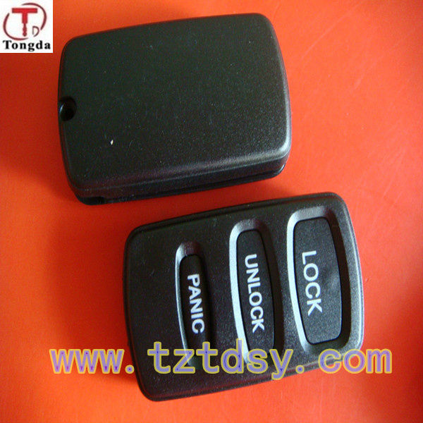 TD top quality key for mitsubishi pajero remote casing .3 buton key cover
