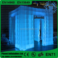 Fashion Colorful Led Inflatable Cube Photo Booth Tent For Sale