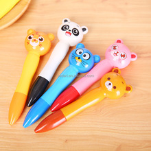 custom cartoon ball point gel plastic pen with logo supplier <strong>promotion</strong> for kids