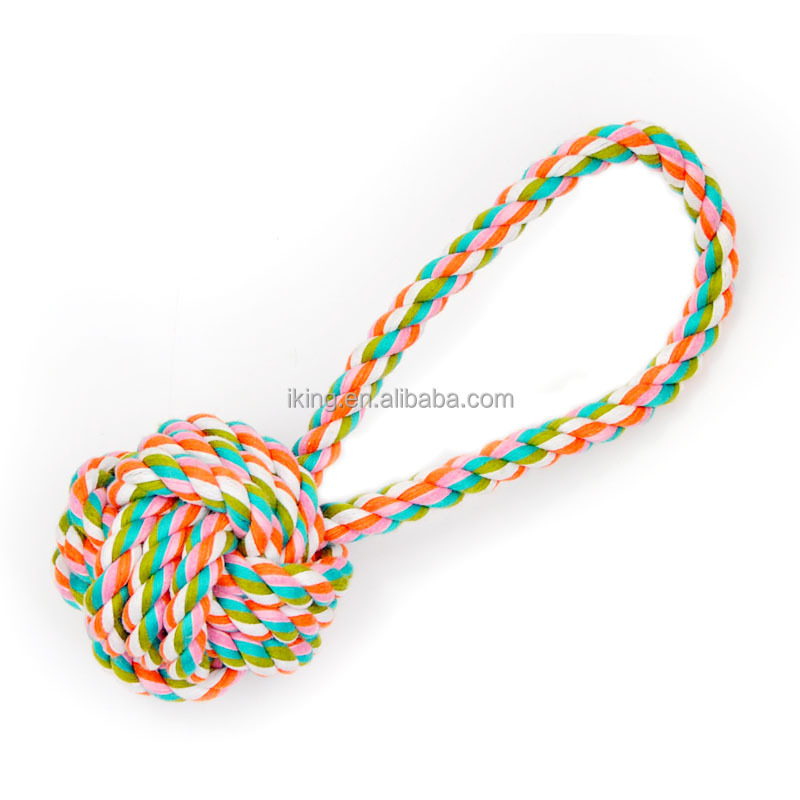 Wholesale High Quality Natural Cotton Rope Dog Toy for Chewing
