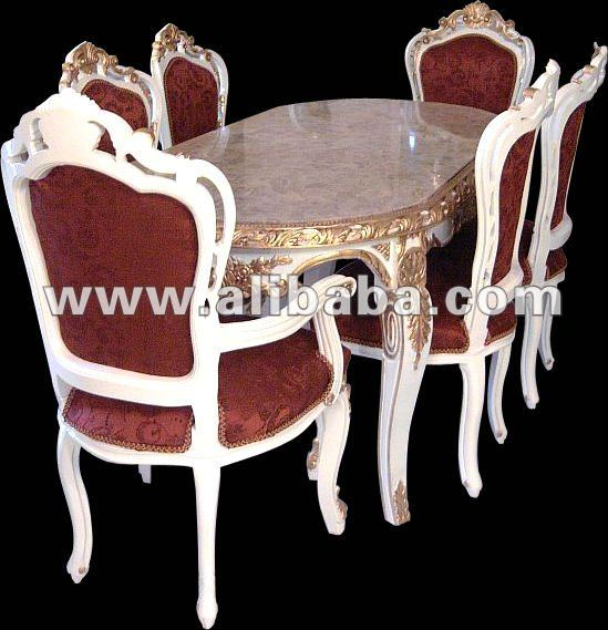 French Louis XV dining set under the Baroque style