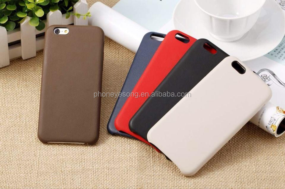 Official Genuine goat Leather back case for iphone 6 plus