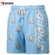 Custom Sublimation Printed Polyester Plain Elastic Swimming Bathing Suits Beach Short Pants For Men