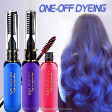 2018 New Arrival 10 Colors Washable Colored Hair Mascara One-time Glitter Hair Mascara