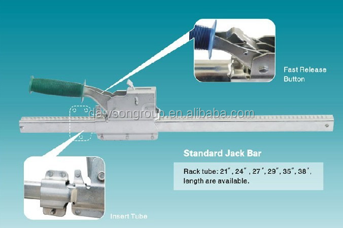 China Supplier Jack Bar With Welded Round Tube and Foot Pads